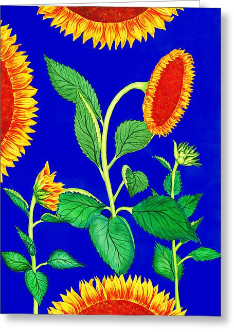 Sunflower Art Greeting Cards - Sunflowers Greeting Card by Palmer Stinson
