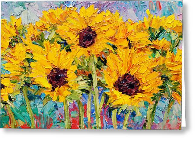 Steven Boone Greeting Cards - Sunflowers Greeting Card by Steven Boone