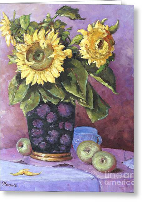 étoiles Greeting Cards - Sunflowers Study by Prankearts Greeting Card by Richard T Pranke