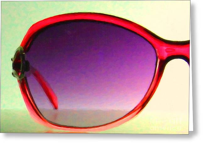 Glas Greeting Cards - Sunglass - 5D20678 - v1 Greeting Card by Wingsdomain Art and Photography