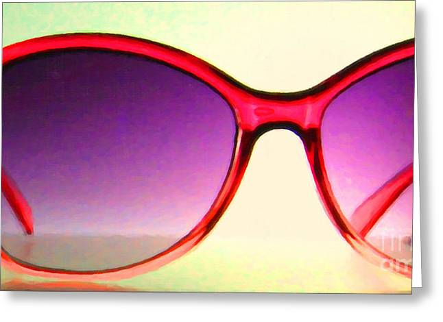 Glas Greeting Cards - Sunglass - 5D20678 - v2 Greeting Card by Wingsdomain Art and Photography