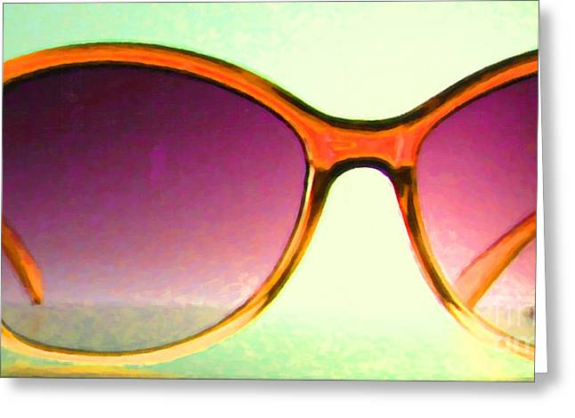 Glas Greeting Cards - Sunglass - 5D20678 - v3 Greeting Card by Wingsdomain Art and Photography