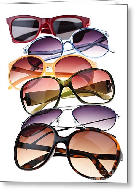 Polarizing Greeting Cards - Sunglasses Greeting Card by Elena Elisseeva