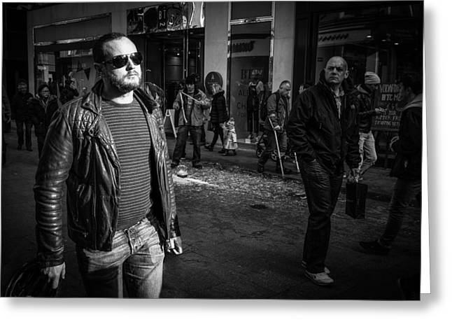 Streetphotography Greeting Cards - Sunglasses Greeting Card by Giuseppe Milo