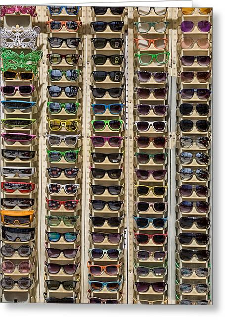 Sunglasses Greeting Card by Peter Tellone