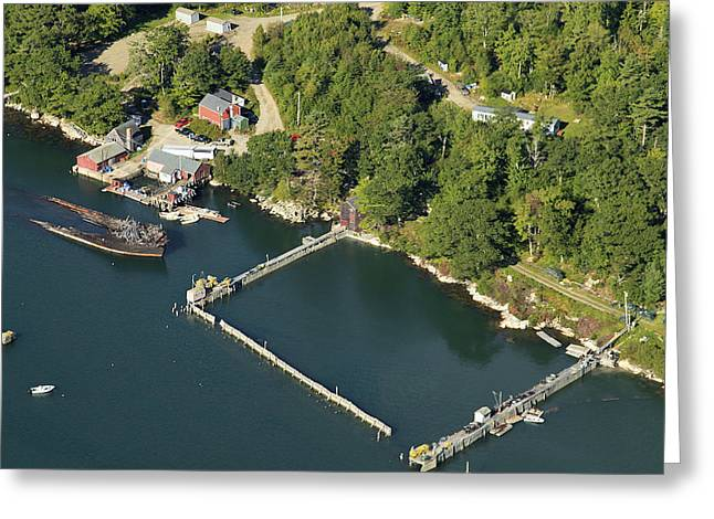 New England Village Greeting Cards - Sunken Ship, Bremen, Maine Greeting Card by Dave Cleaveland
