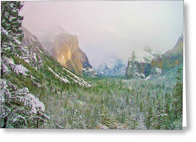 Tunnel View Greeting Cards - Sunlight Breaks Through Greeting Card by Heidi Smith