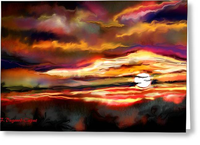 Landscap Greeting Cards - Sunlight Greeting Card by Francoise Dugourd-Caput
