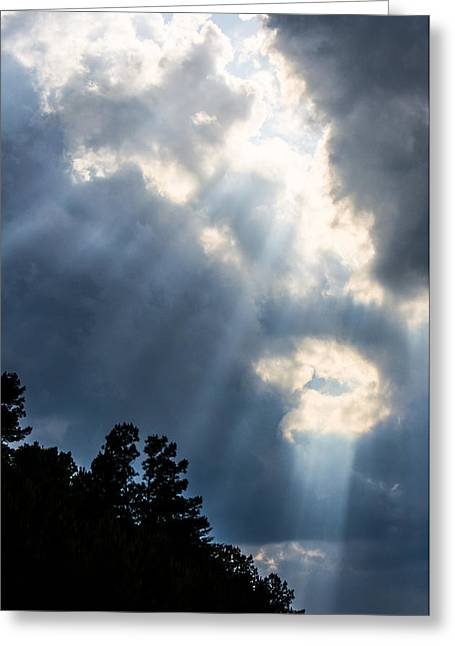 Rare Moments Greeting Cards - Sunlight From The Heavens Greeting Card by Parker Cunningham