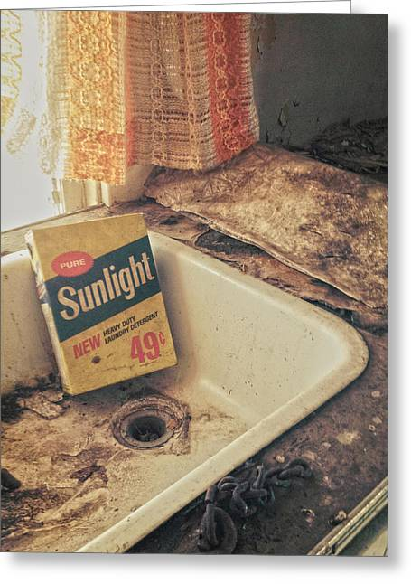 Rustic Photo Greeting Cards - Sunlight  Greeting Card by Jerry Cordeiro