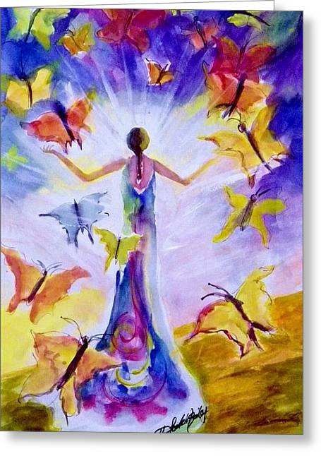 Therese Fowler-bailey Greeting Cards - Sunlight of the Spirit II Greeting Card by Therese Fowler-Bailey