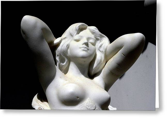 Sunlight On A Nude Goddess Greeting Card by Jeff Lowe