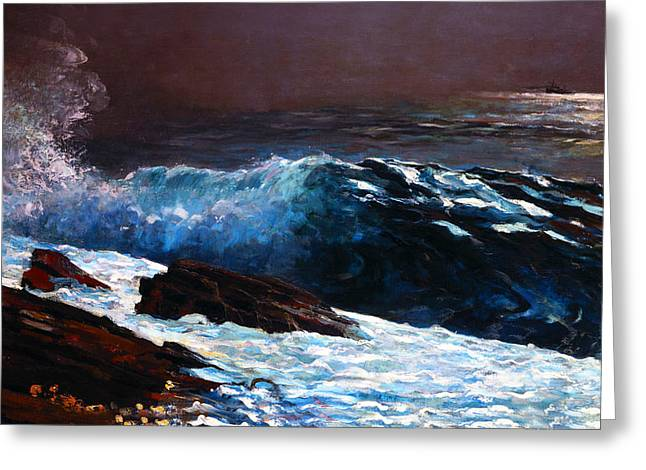 Winslow Homer Digital Art Greeting Cards - Sunlight On The Coast Greeting Card by Winslow Homer
