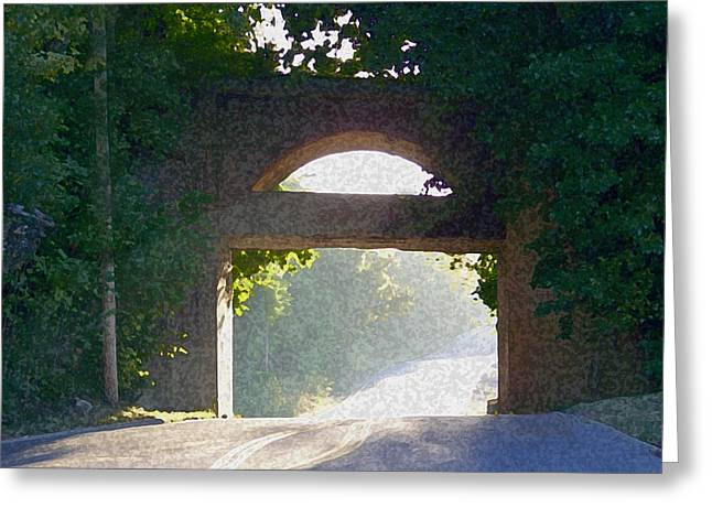 Award Winning Art Greeting Cards - Sunlit Bridge Greeting Card by Dennis Buckman