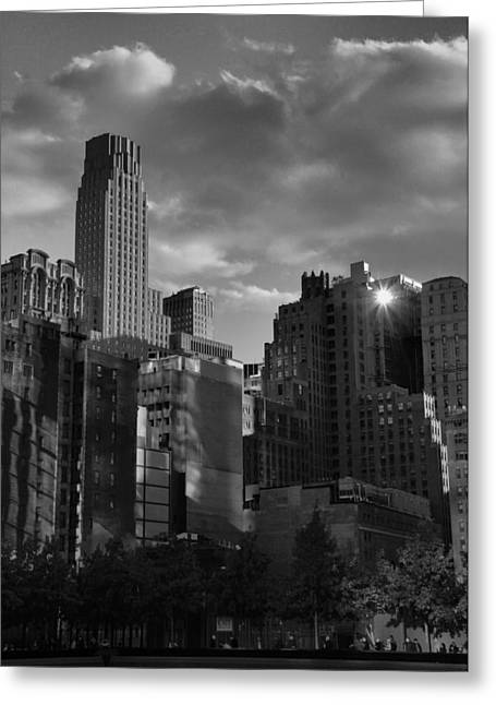 New Mind Greeting Cards - Sunlit New York City Greeting Card by Dan Sproul