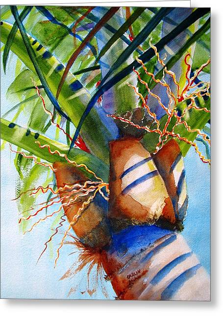 Carlin Greeting Cards - Sunlit Palm Greeting Card by Carlin Blahnik