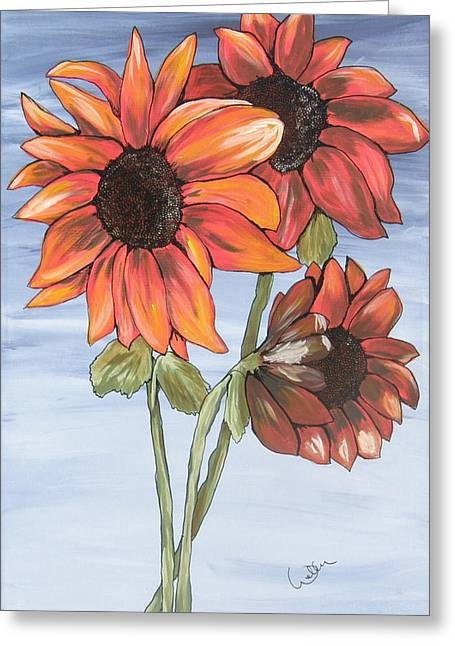 Marcia Weller-wenbert Greeting Cards - Sunning Greeting Card by Marcia Weller-Wenbert