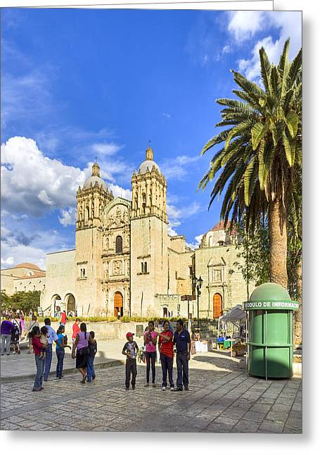 Oaxaca Greeting Cards - Sunny Afternoon At The Church of Santo Domingo in Oaxaca Greeting Card by Mark Tisdale