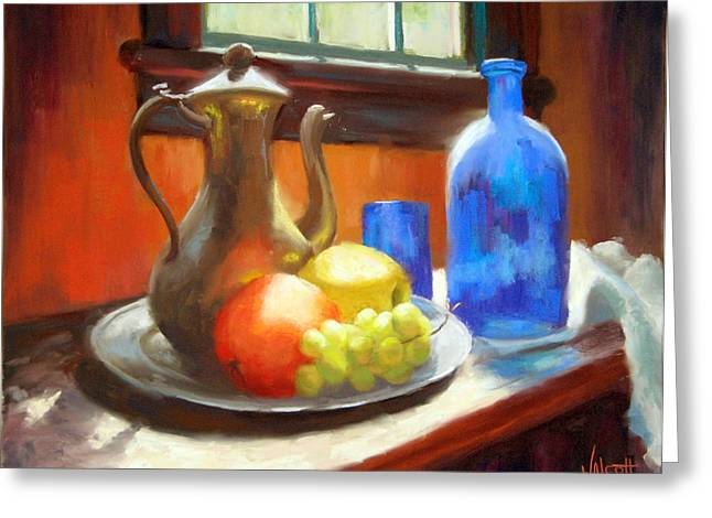 Interior Still Life Pastels Greeting Cards - Sunny Afternoon Greeting Card by Jason Walcott