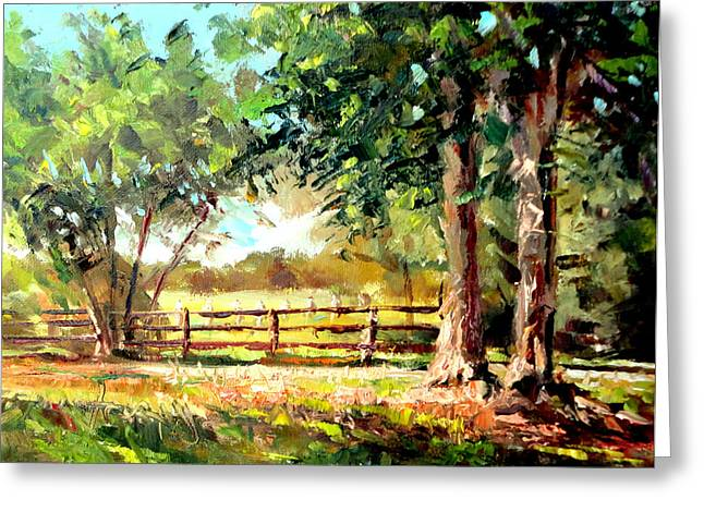 Mountain Climbing Art Print Paintings Greeting Cards - Sunny Afternoon  Greeting Card by Mark Hartung