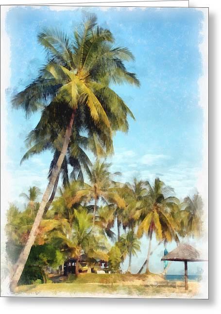 China Beach Greeting Cards - Sunny Beach Greeting Card by Sergey Lukashin