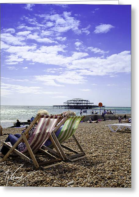 Max Callender Greeting Cards - Sunny Brighton Greeting Card by Max CALLENDER