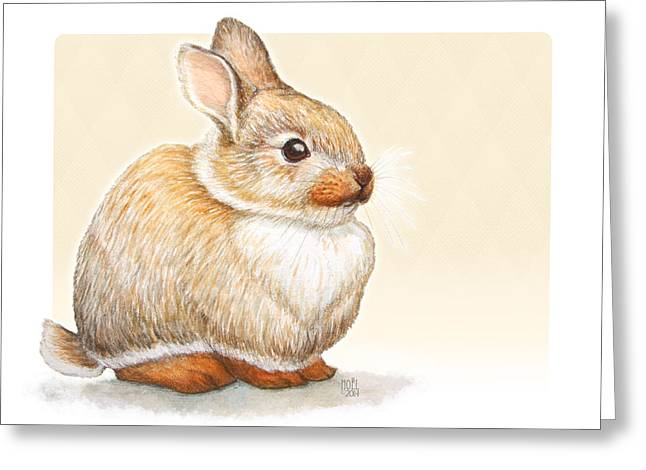 Hunters Moon Greeting Cards - Sunny Bunny Greeting Card by Catherine Noel
