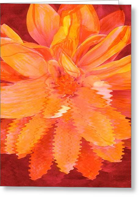 Sunny Burst Of Color Floral Greeting Card by Anne-Elizabeth Whiteway