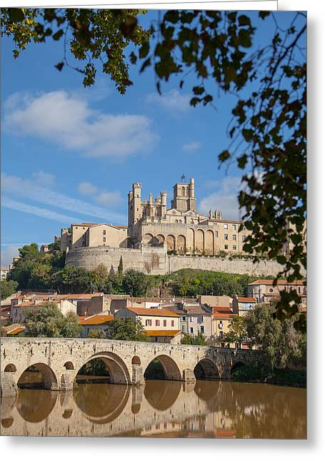 Languedoc Greeting Cards - Sunny day in Beziers France Greeting Card by W Chris Fooshee