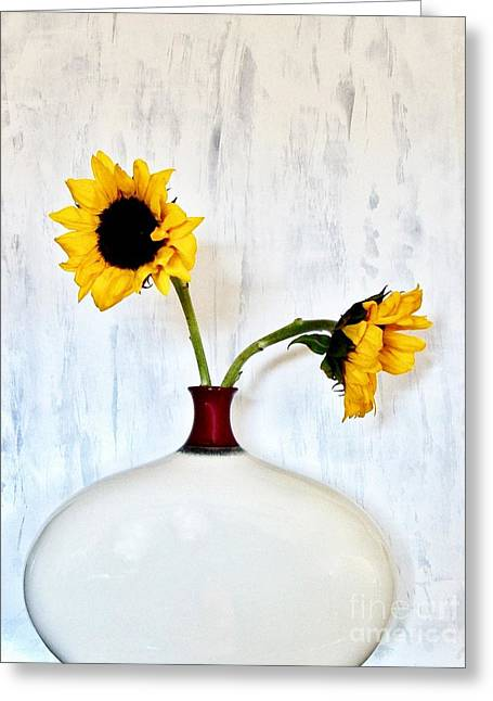 Yellow Sunflower Greeting Cards - Sunny Day Greeting Card by Marsha Heiken