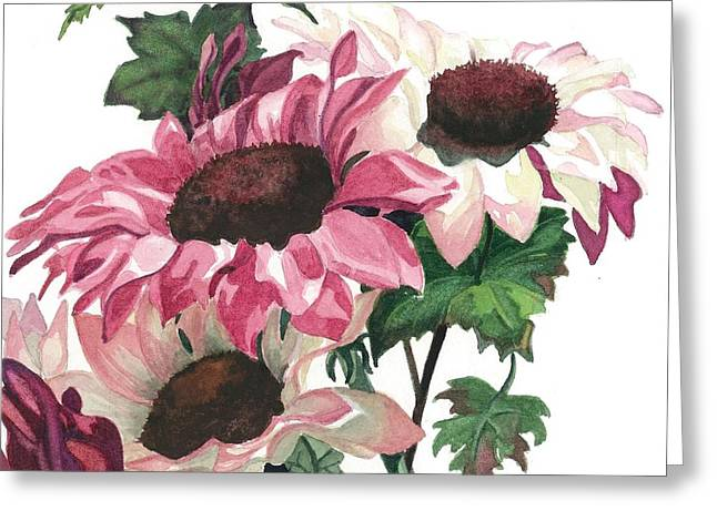 Close Up Paintings Greeting Cards - Sunny Delight Greeting Card by Barbara Jewell