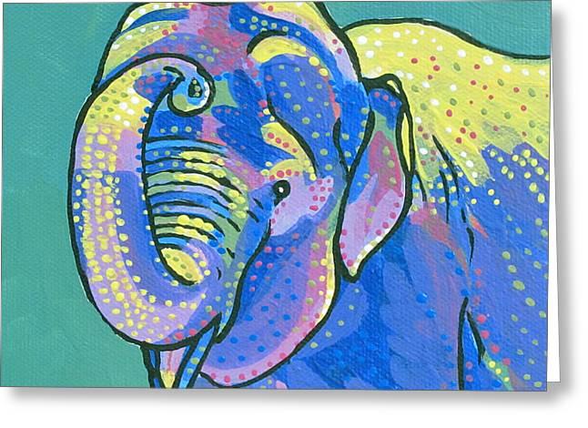 Sunny Elephant Greeting Card by Dorothy Jenson