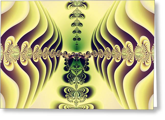 Geometric Style Greeting Cards - Sunny Fairytale Abstract Art Greeting Card by Design Windmill