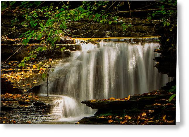 Buttermilk Falls Greeting Cards - Sunny Falls at Buttermilk Greeting Card by Brad Marzolf Photography