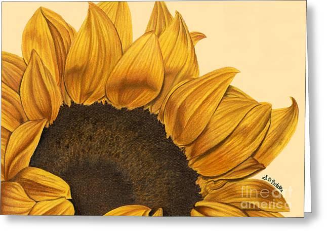 Sunny Flower Greeting Card by Sarah Batalka