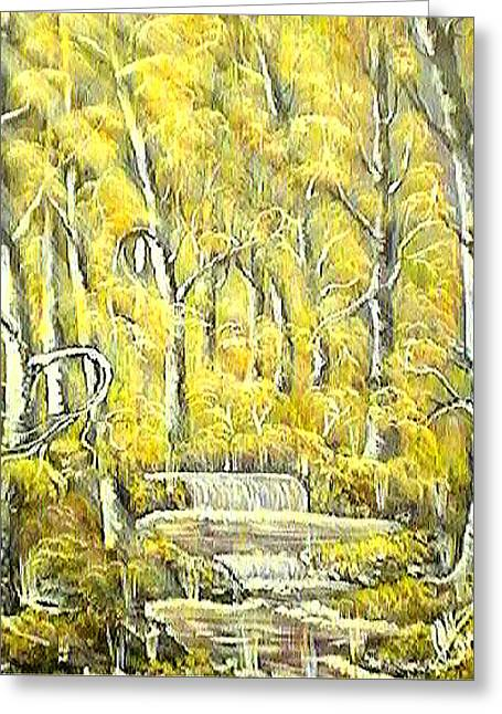 Autumn Greeting Cards - Sunny Forest Greeting Card by Collin A Clarke