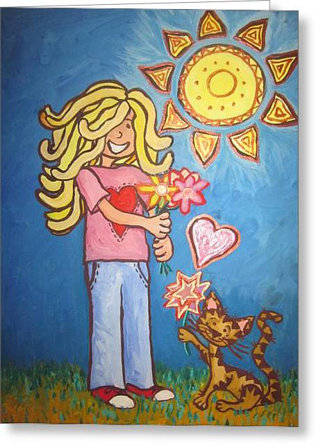 Cherie Sexsmith Greeting Cards - Sunny Girl Greeting Card by Cherie Sexsmith