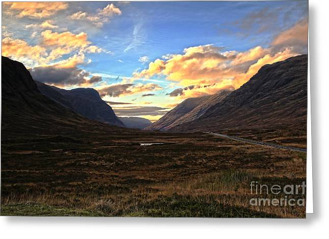 Babbling Greeting Cards - Sunny GlenCoe Greeting Card by JM Braat Photography
