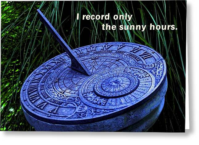 Conscious Decision Greeting Cards - Sunny Hours Greeting Card by Mike Flynn