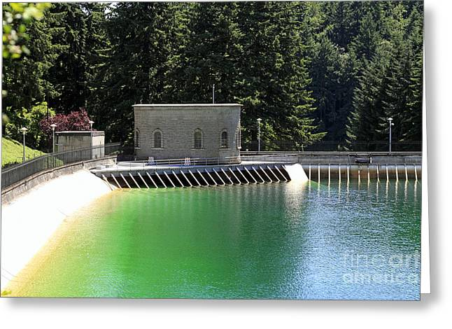 Public Water Supply Greeting Cards - Sunny Liquid Greeting Card by Lee Serenethos