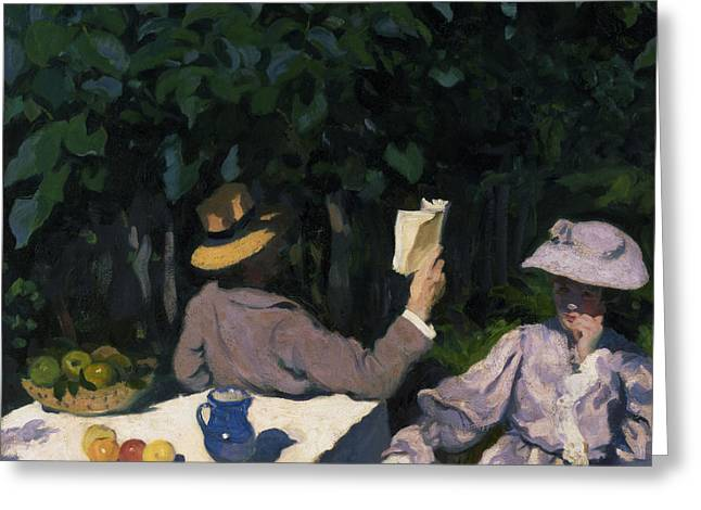 Edwardian Greeting Cards - Sunny Morning Greeting Card by Karoly Ferenczy