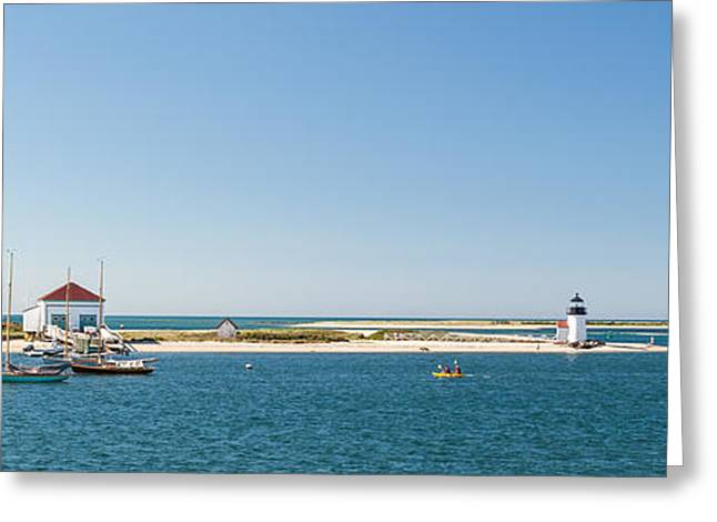 Brant Point Greeting Cards - Sunny Nantucket Afternoon Greeting Card by Michelle Wiarda