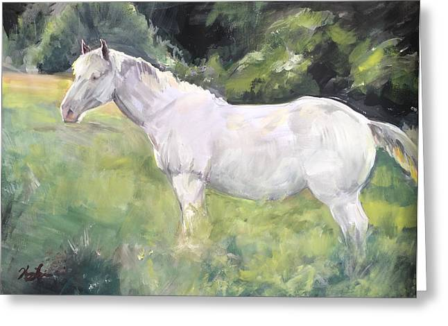 The Horse Greeting Cards - Sunny Pony Greeting Card by Kelsey Langlois