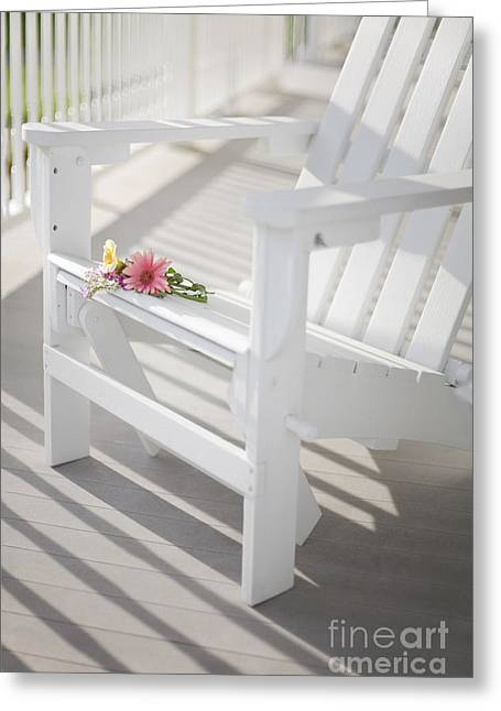 Porch Greeting Cards - Sunny Porch Greeting Card by Diane Diederich