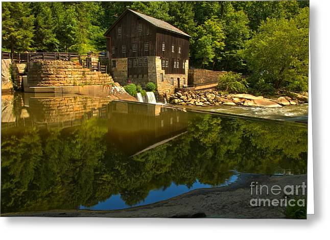 Mcconnells Mill Greeting Cards - Sunny Refelctions In Slippery Rock Creek Greeting Card by Adam Jewell