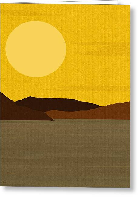 Landsape Greeting Cards - Sunny River Greeting Card by Val Arie