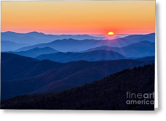 Clingmans Dome Greeting Cards - Sunny Side UP Greeting Card by Anthony Heflin