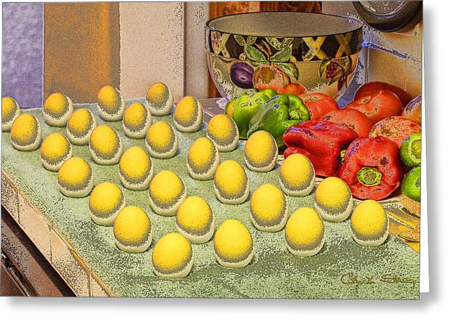 Sunny Side Up Eggs Greeting Cards - Sunny Side Up Greeting Card by Chuck Staley