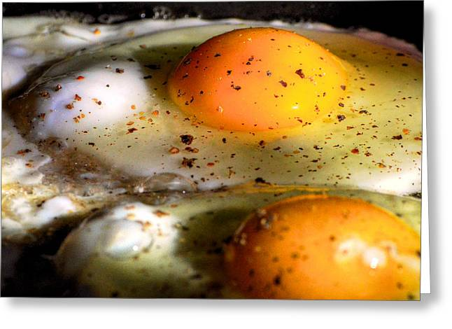 Sunny Side Up Eggs Greeting Cards - Sunny-Side Up Greeting Card by Fred Potter