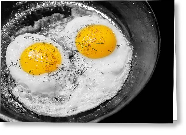 Sunny Side Up Eggs Greeting Cards - Sunny Side Up Greeting Card by Gunter Nezhoda